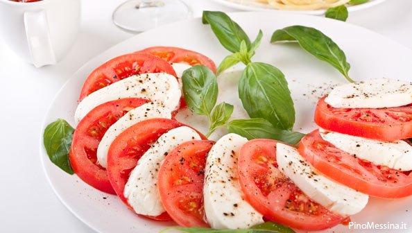 dieta pomodori e mozzarella