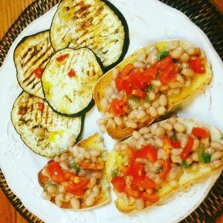 ricetta per dieta crostoni con fagioli